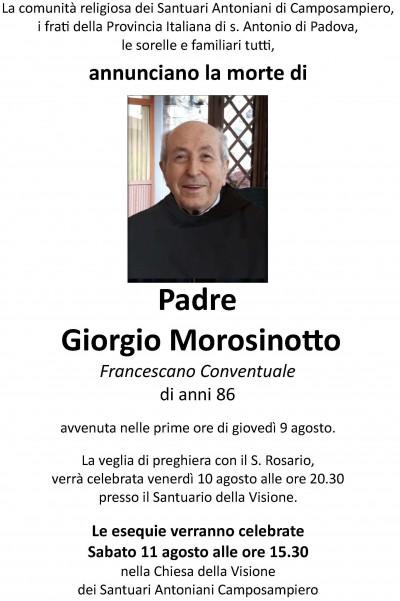 esequie Giorgio Morosinotto